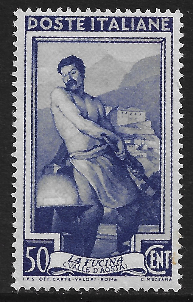 Italy stamp 1950 SG773, 50l violet, Provincial occupations, mint